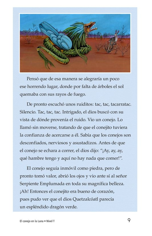 Book Preview For El conejo en la luna Page 9