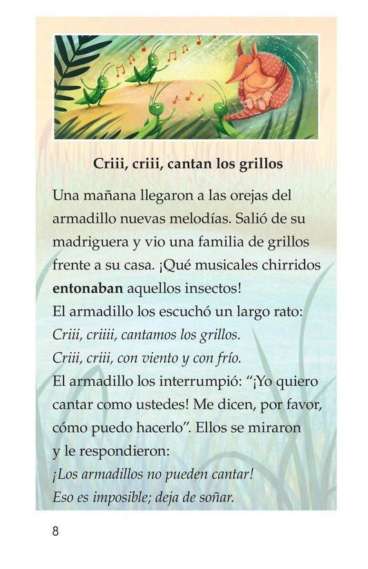 Book Preview For La canción del armadillo Page 8