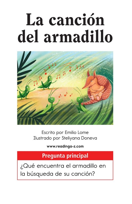 Book Preview For La canción del armadillo Page 1