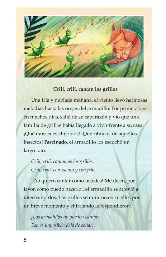 Book Preview For La canción del armadillo Page 8