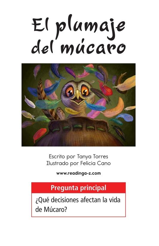 Book Preview For El plumaje del múcaro Page 1