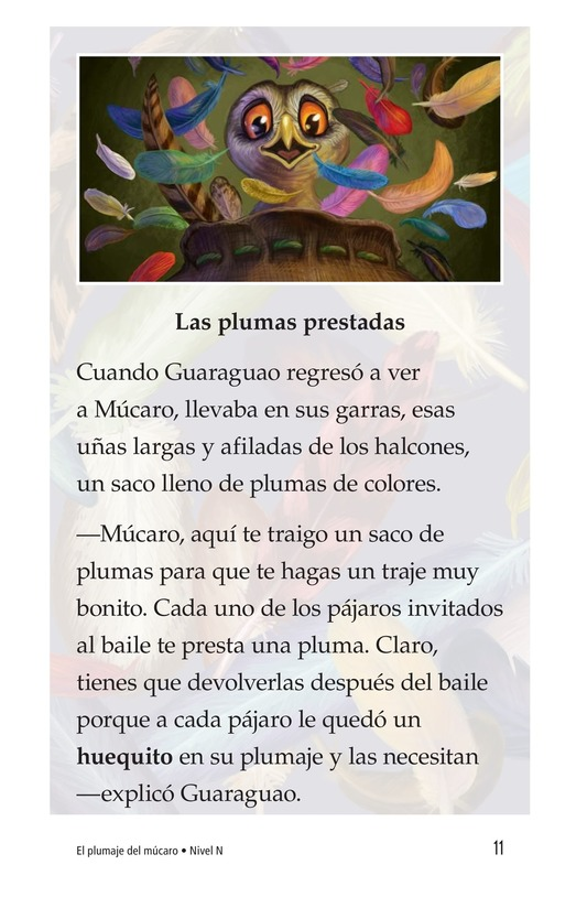Book Preview For El plumaje del múcaro Page 11