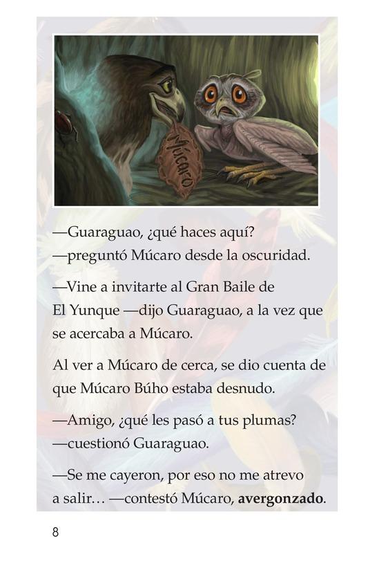Book Preview For El plumaje del múcaro Page 8