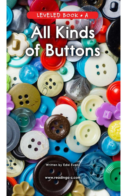 Book Preview For All Kinds of Buttons Page 0