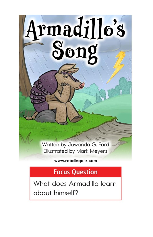 Book Preview For Armadillo's Song Page 1