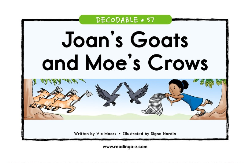 Book Preview For Joan's Goats and Moe's Crows Page 1