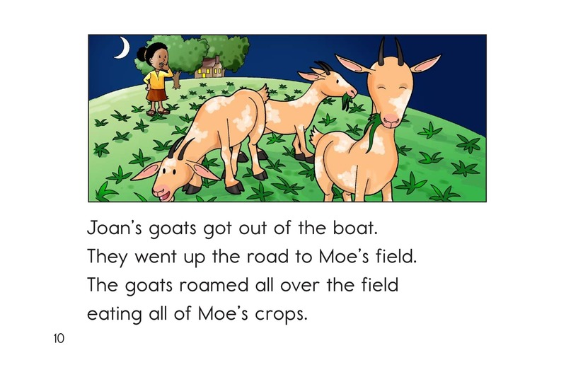 Book Preview For Joan's Goats and Moe's Crows Page 10