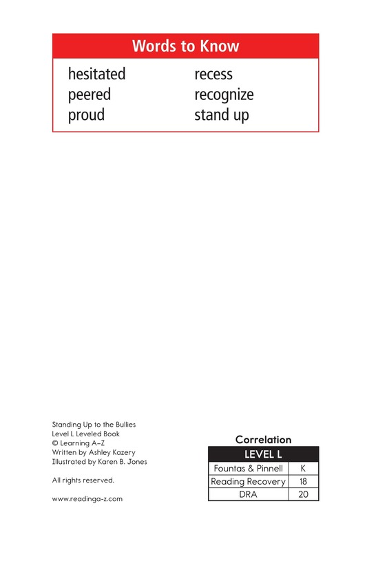 Book Preview For Standing Up to the Bullies Page 2