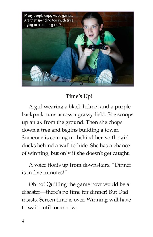 Book Preview For Too Much Screen Time? Page 4