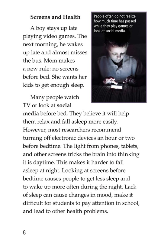 Book Preview For Too Much Screen Time? Page 8