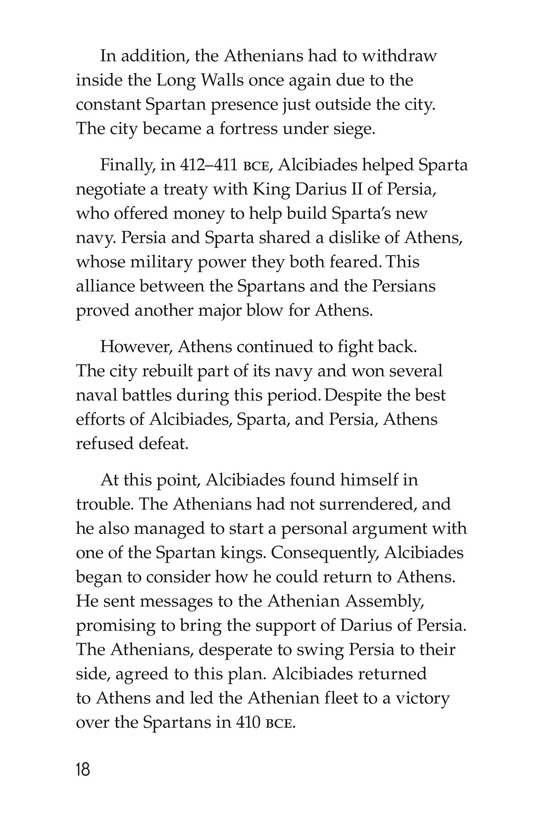 Book Preview For The Peloponnesian War: Athens Versus Sparta Page 18