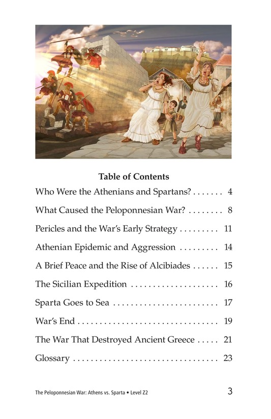 Book Preview For The Peloponnesian War: Athens Versus Sparta Page 3