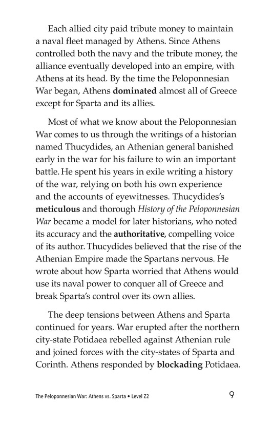 Book Preview For The Peloponnesian War: Athens Versus Sparta Page 9