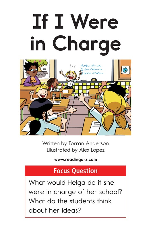 Book Preview For If I Were In Charge Page 1