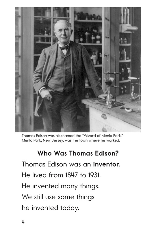 Book Preview For Edison's Inventions Page 4