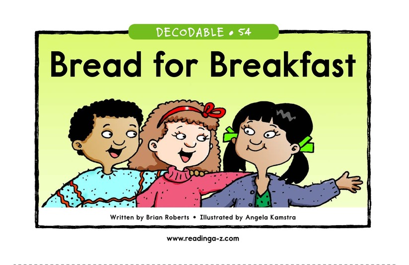 Book Preview For Bread for Breakfast Page 1