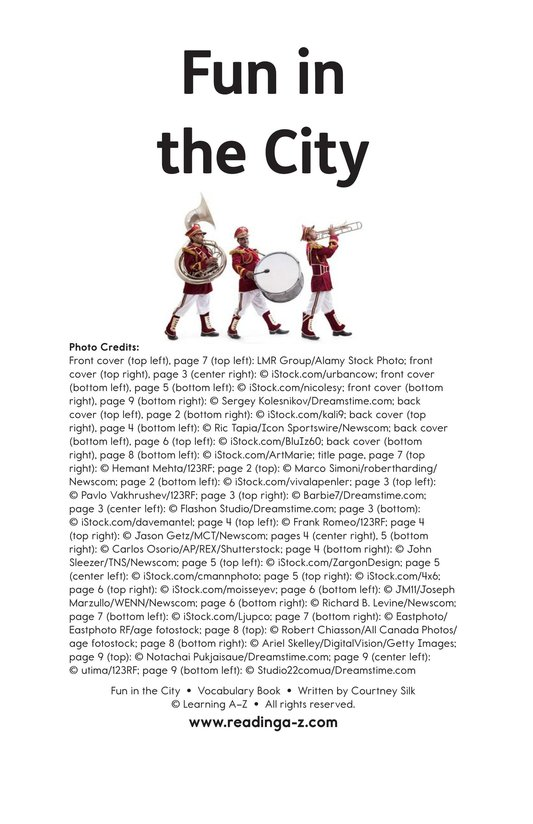 Book Preview For Fun in the City Page 11