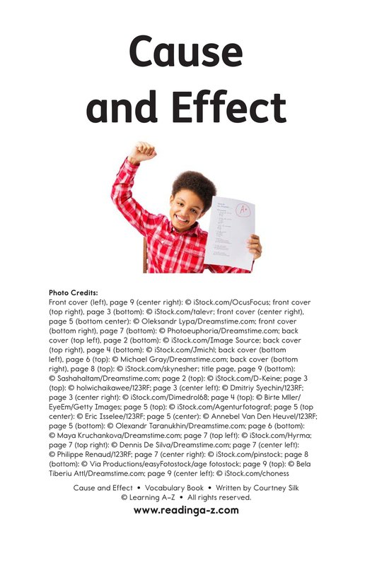 Book Preview For Cause and Effect Page 11