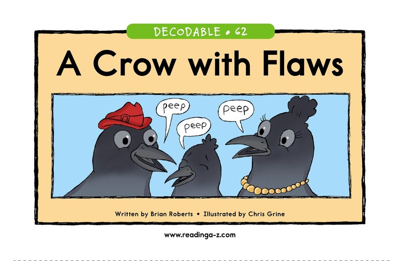 Book Preview For A Crow with Flaws Page 1