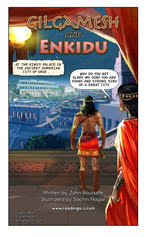 Book Preview For Gilgamesh and Enkidu Page 2