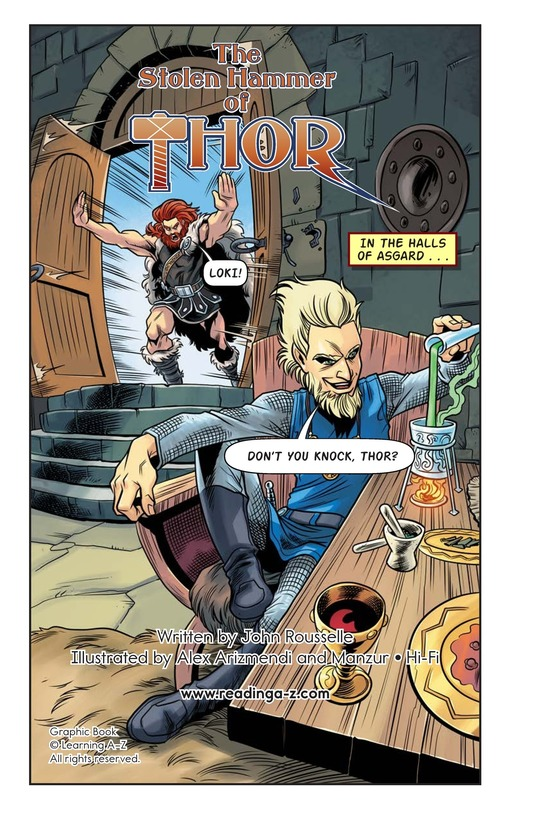 Book Preview For The Stolen Hammer of Thor Page 2