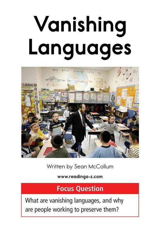 Book Preview For Vanishing Languages Page 1