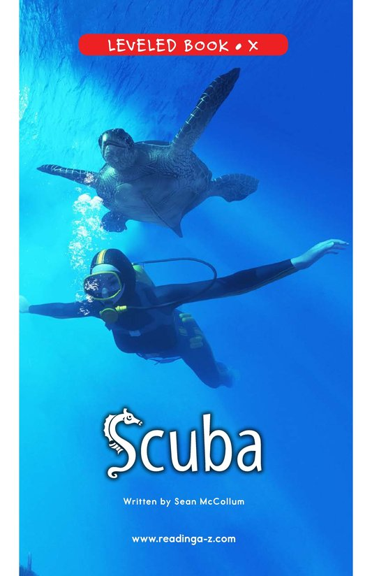 Book Preview For Scuba Page 0