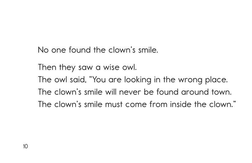Book Preview For The Clown Who Lost Her Smile Page 10