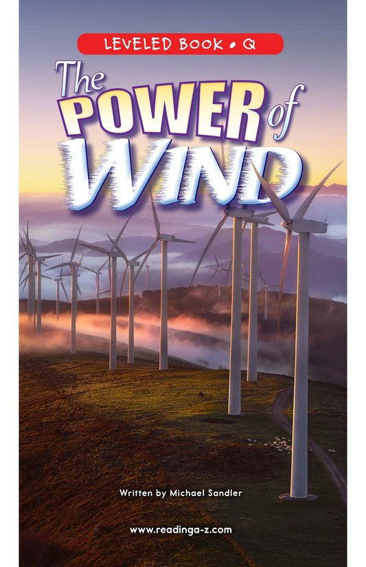 Book Preview For The Power of Wind Page 0