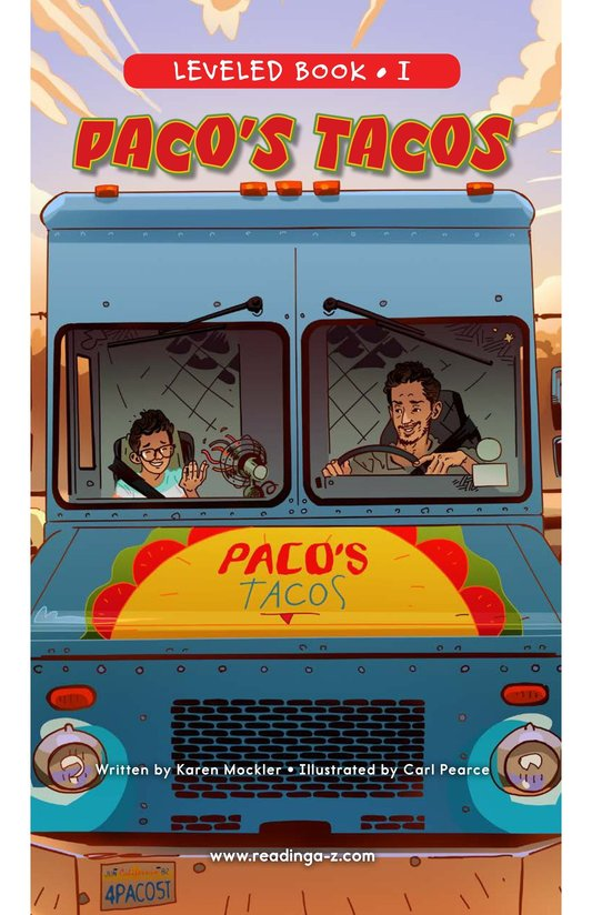 Book Preview For Paco's Tacos Page 0