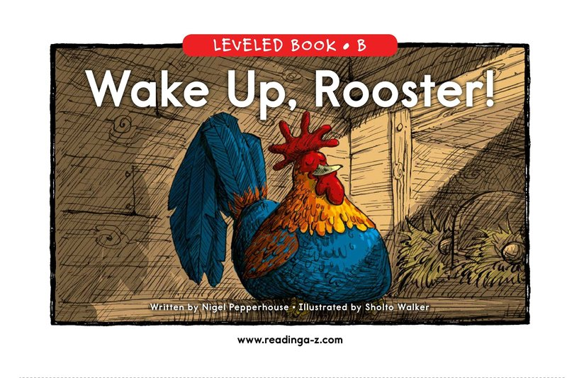 Book Preview For Wake Up, Rooster! Page 0