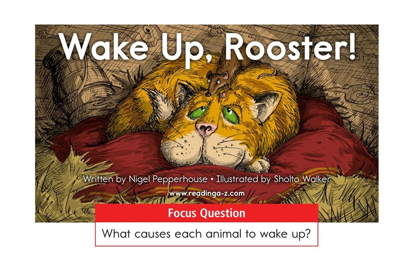 Book Preview For Wake Up, Rooster! Page 1