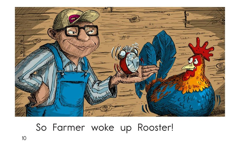 Book Preview For Wake Up, Rooster! Page 10