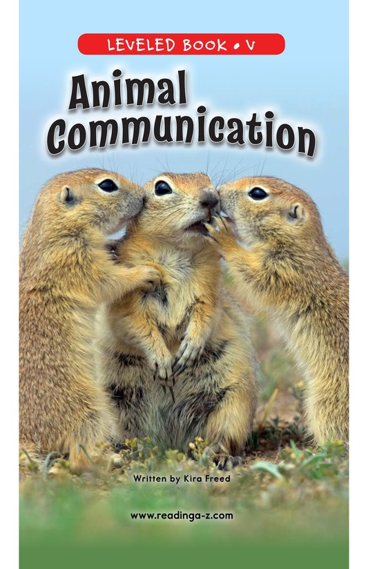 Book Preview For Animal Communication Page 0