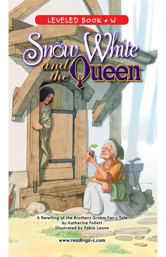 Book Preview For Snow White and the Queen Page 0