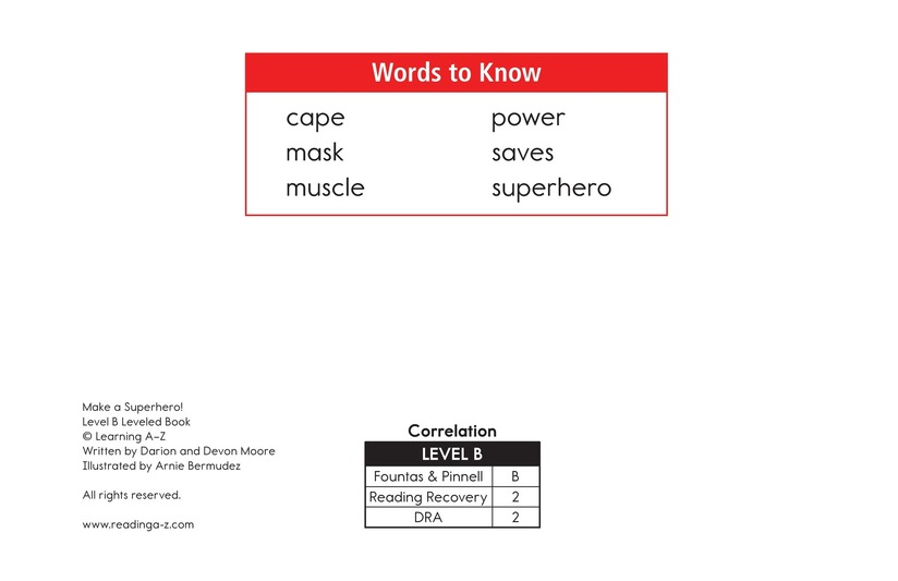 Book Preview For Make a Superhero! Page 2