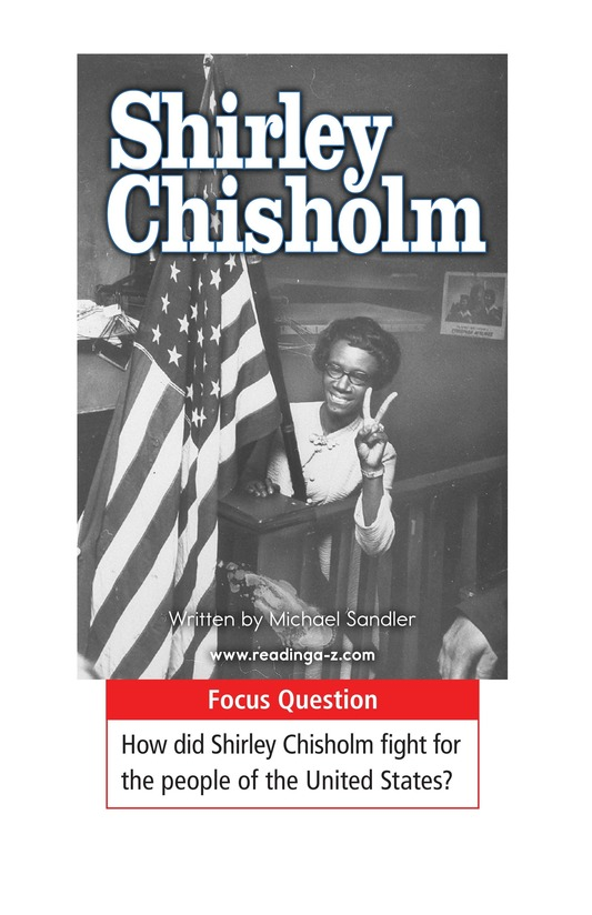 Book Preview For Shirley Chisholm Page 1
