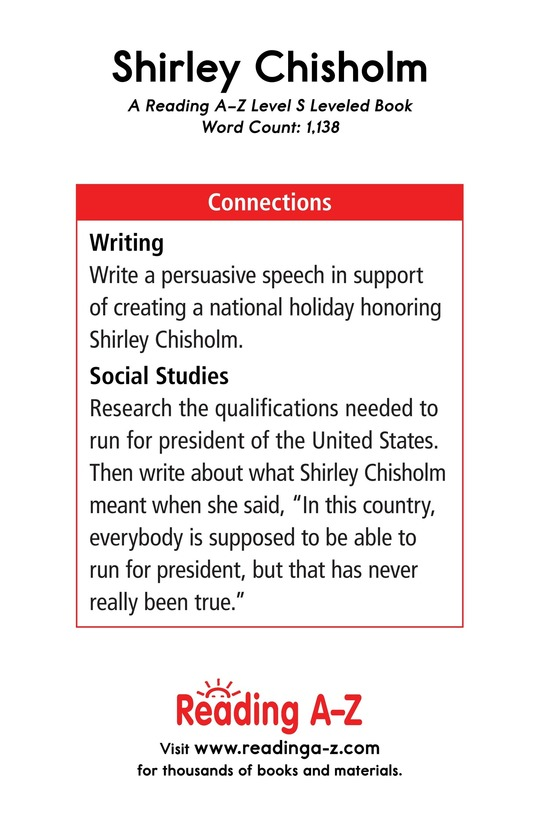 Book Preview For Shirley Chisholm Page 17