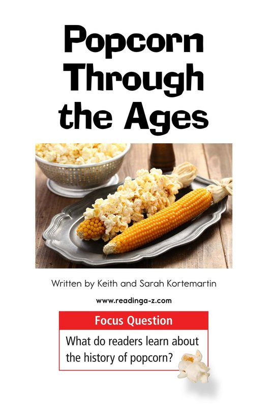 Book Preview For Popcorn Through the Ages Page 1