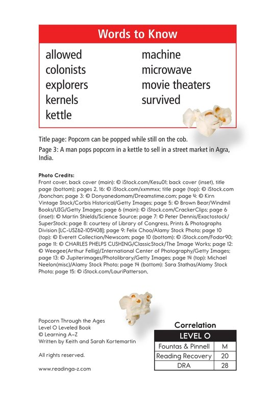 Book Preview For Popcorn Through the Ages Page 2