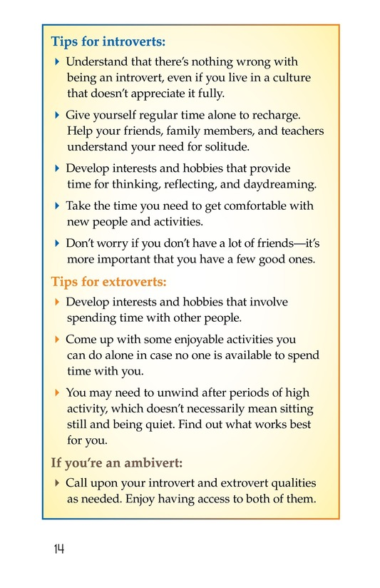 Book Preview For Introverts and Extroverts Page 14