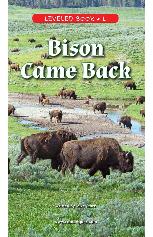 Book Preview For Bison Came Back Page 0