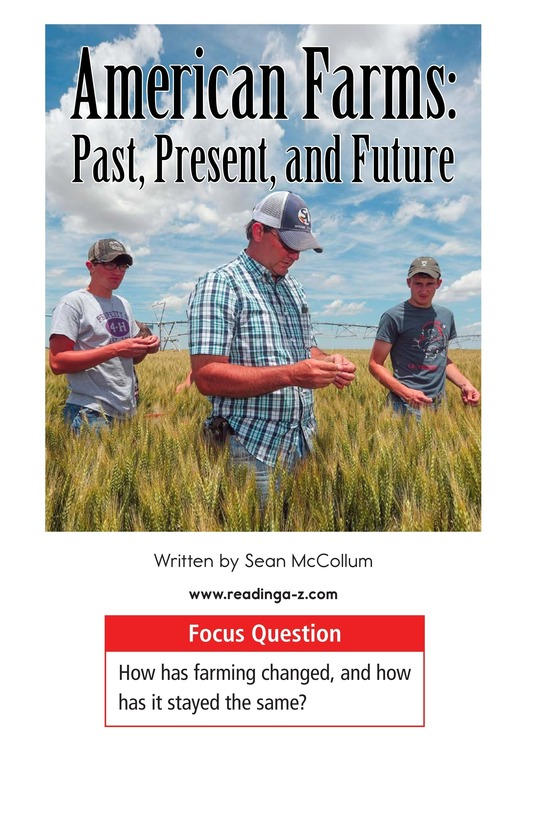 Book Preview For American Farms: Past, Present, and Future Page 1