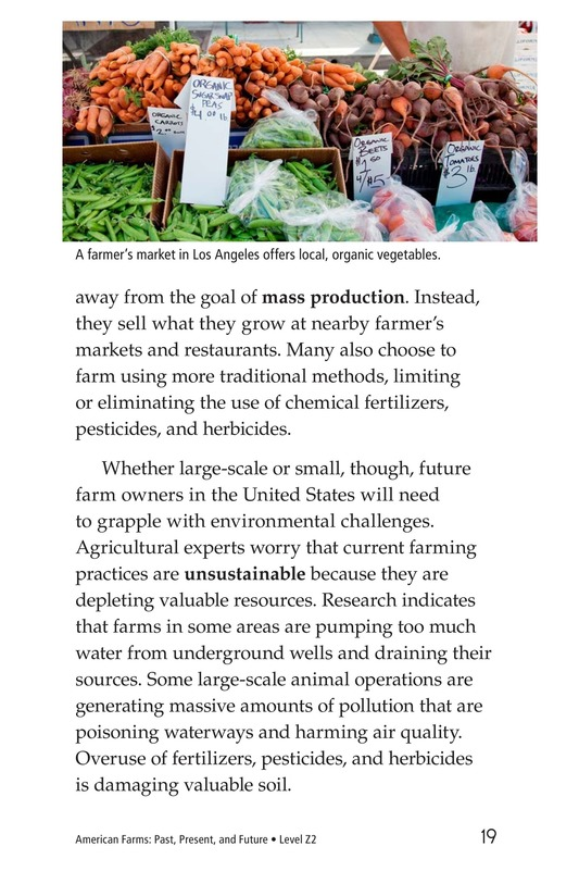 Book Preview For American Farms: Past, Present, and Future Page 19