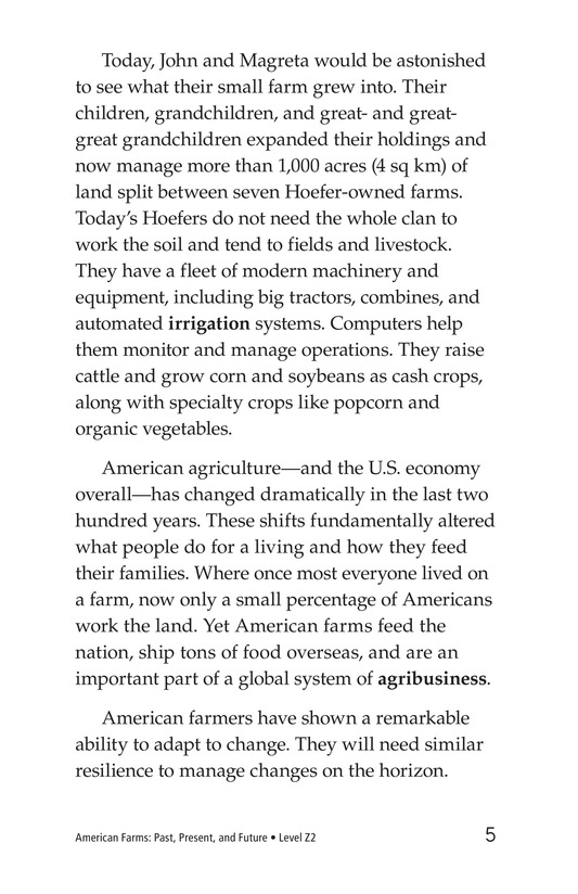 Book Preview For American Farms: Past, Present, and Future Page 5