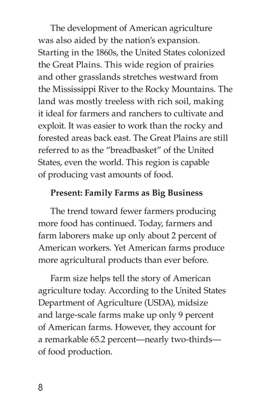 Book Preview For American Farms: Past, Present, and Future Page 8