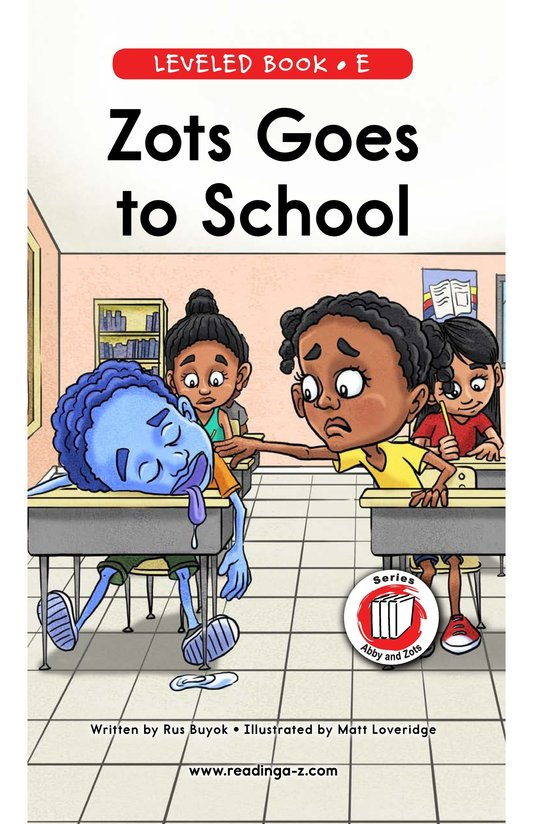 Book Preview For Zots Goes to School Page 0