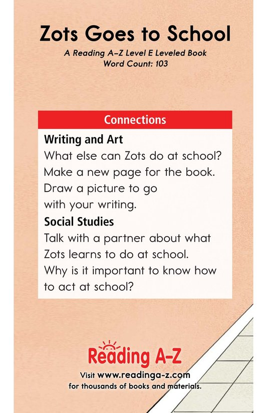 Book Preview For Zots Goes to School Page 13