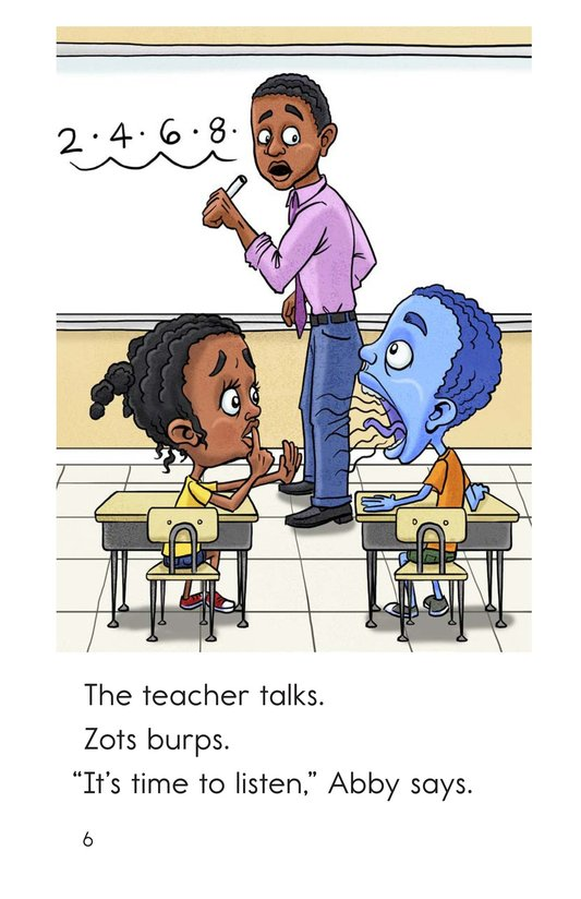 Book Preview For Zots Goes to School Page 6