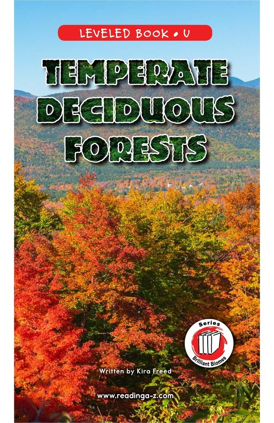 Book Preview For Temperate Deciduous Forests Page 0